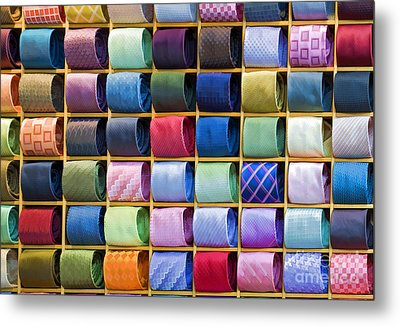 Silk Neckties Metal Print by Sheldon Kralstein