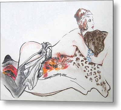 Silk Stockings Metal Print by Monique Montney