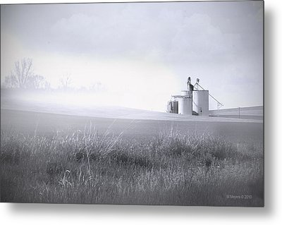 Silo Mist Metal Print by Melisa Meyers