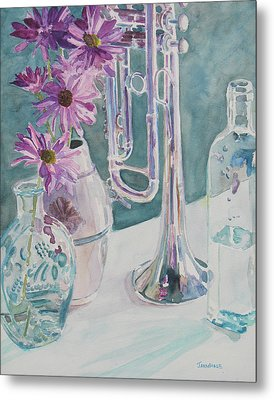 Silver And Glass Music Metal Print by Jenny Armitage