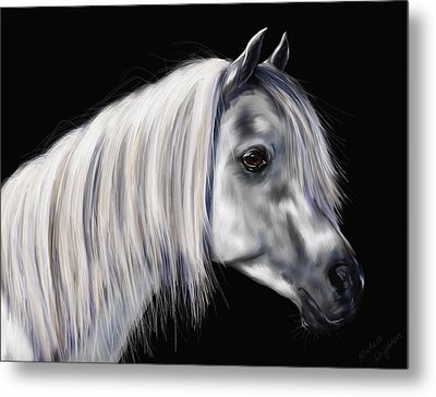 Grey Arabian Mare Painting Metal Print by Michelle Wrighton