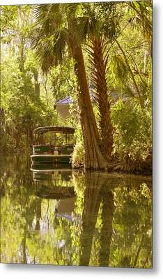 Silver Springs Glass Bottom Boats Metal Print by Christine Till