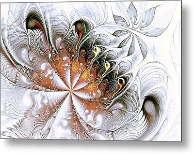 Silver Waves Metal Print by Anastasiya Malakhova