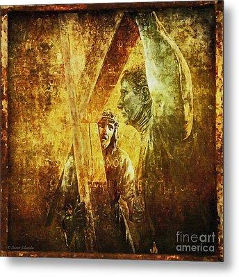 Simon Helps Jesus Via Dolorosa 5 Metal Print by Lianne Schneider