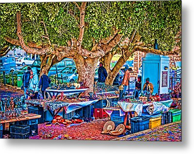 Simon's Town Market Metal Print by Cliff C Morris Jr