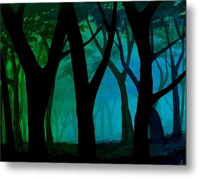 Simple Blues Metal Print by Erin Scott