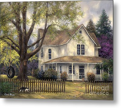 Simple Country Metal Print by Chuck Pinson