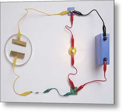 Simple Electronic Circuit Detects Water Metal Print by Dorling Kindersley/uig
