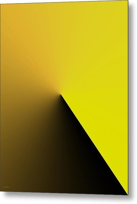 Simple Geometric Solution In Yellow Metal Print by Mario Perez
