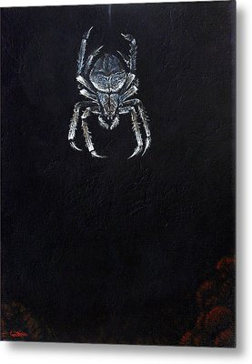 Simply Spider Metal Print by Cara Bevan