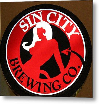 Sin City Brewing  Metal Print by Cynthia Guinn