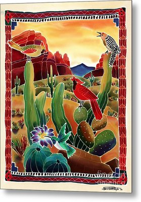 Singing In The Desert Morning Metal Print by Harriet Peck Taylor