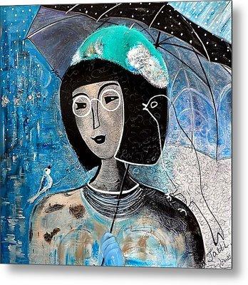 Singing Under The Rain Metal Print by Tatiana Tatti Lobanova
