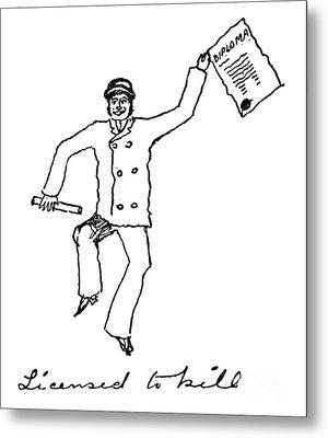 Sir Arthur Conan Doyle Metal Print by Granger