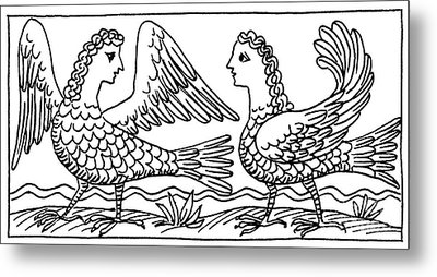 Sirens, Mythological Creature Metal Print by Photo Researchers