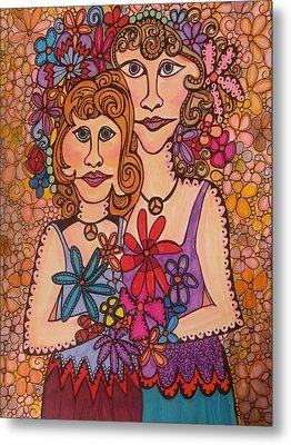 Sisters Of Peace  Metal Print by Gerri Rowan