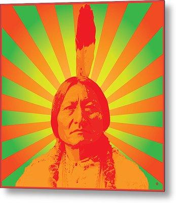 Sitting Bull Metal Print by Gary Grayson