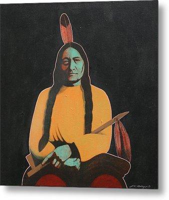 Sitting Bull Metal Print by J W Kelly