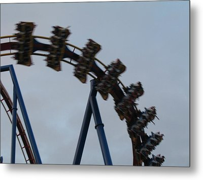 Six Flags Great Adventure - Medusa Roller Coaster - 12126 Metal Print by DC Photographer