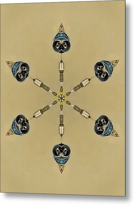 Six Heads Are Better Than One - Ecru Metal Print by Wendy J St Christopher