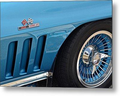 Sixty Six Corvette Roadster Metal Print by Frozen in Time Fine Art Photography