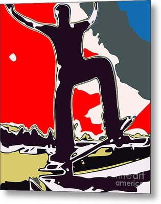 Skateboarder Metal Print by Chris Butler