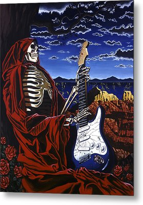 Skeleton Dream Metal Print by Gary Kroman