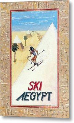 Ski Aegypt Metal Print by Richard Deurer