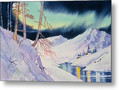 Ski Trail Metal Print by Teresa Ascone