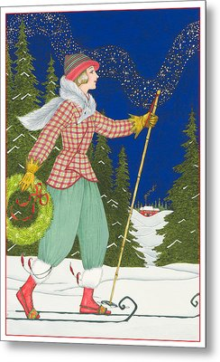Ski Vogue Metal Print by Lynn Bywaters