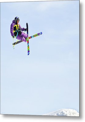 Ski X Metal Print by Theresa Tahara
