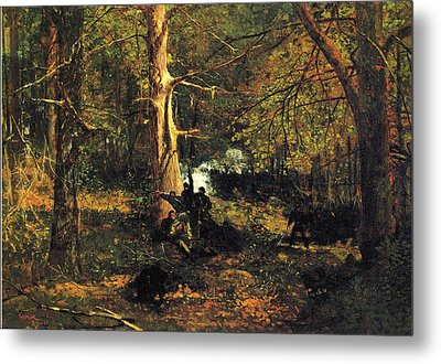 Skirmish In The Wilderness Metal Print by Winslow Homer