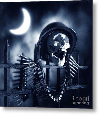 Skull Metal Print by Tony Cordoza
