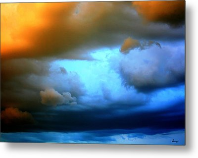 Sky In Peril Metal Print by Andrea Lawrence