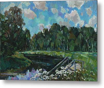 Sky In The River Metal Print by Juliya Zhukova