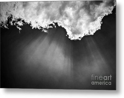 Sky With Sunrays Metal Print by Elena Elisseeva