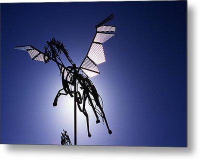 Skyhorse Metal Print by Bernard  Barcos