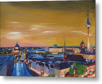 Skyline Of Berlin At Sunset Metal Print by M Bleichner