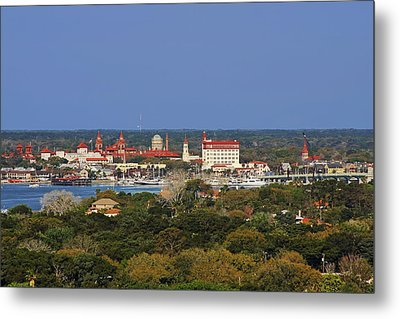 Skyline Of St Augustine Florida Metal Print by Christine Till