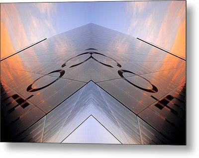 Skynet Building In Glass  Metal Print by Toppart Sweden