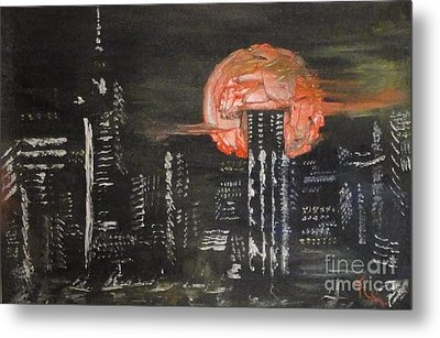 Skyrise Moon Metal Print by PainterArtist FIN