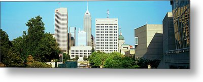 Skyscrapers In A City, Indianapolis Metal Print by Panoramic Images