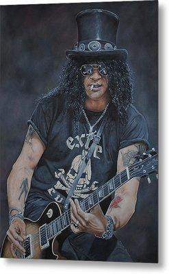 Slash Live Metal Print by David Dunne