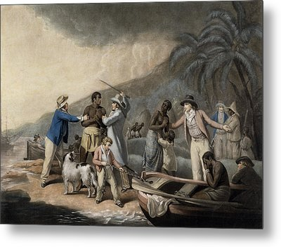 Slave Trade, Engraved By John Raphael Smith, 1791 Mezzotint Metal Print by George Morland