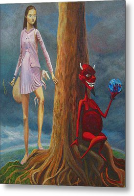 Slaying The Devil Who Eats My Dreams Metal Print by Mindy Huntress