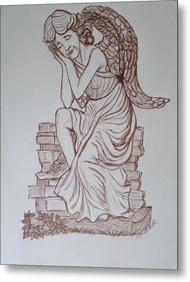 Sleep In Heavenly Peace Metal Print by Christy Saunders Church