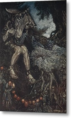 Sleep Thou, And I Will Wind Thee Metal Print by Arthur Rackham