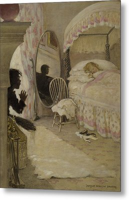 Sleeping Beauty Circa 1916 Metal Print by Aged Pixel