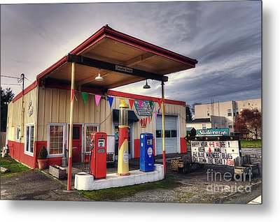 Slider's Cafe Metal Print by Eddie Yerkish