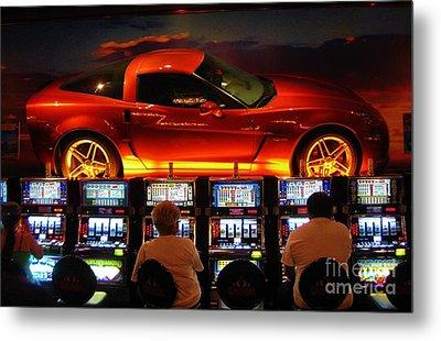 Slots Players In Vegas Metal Print by John Malone